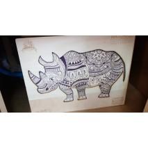 Puzzle bois 146 p Rhinocéros