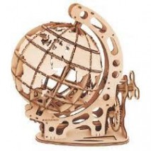 Globe maquette 3d Bois