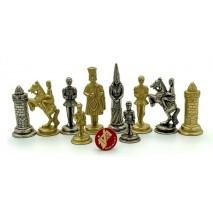 Pièces échecs Métal Camelot 6.7 cm