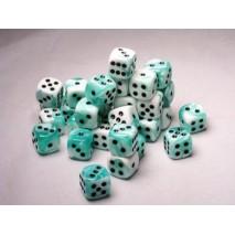 Chessex set de 36dés turquois