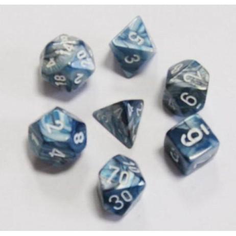 Set dés lustrous blanc/slate